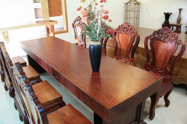 Bộ bàn ghế gỗ Cẩm || Minh Long sang Trọng