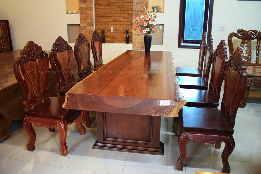 Bàn ghế gỗ cẩm nguyên tấm BGCC – 009