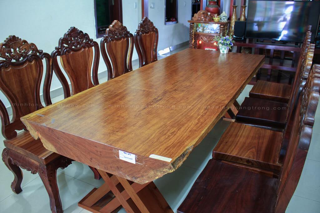 Bàn ghế gỗ cẩm nguyên tấm BGCC – 013