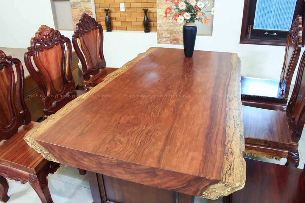 Bàn ghế gỗ cẩm nguyên khối BGCC- 004