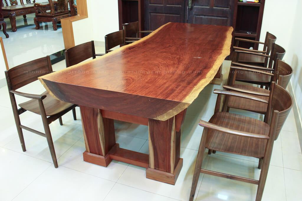 Bàn ghế gỗ cẩm nguyên tấm BGCC – 006