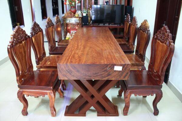 Mặt bàn gỗ Cẩm Nguyên Tấm BGCC – 007
