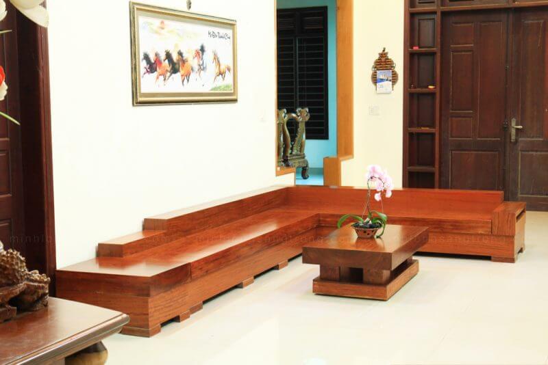 sofa gỗ tự nhiên