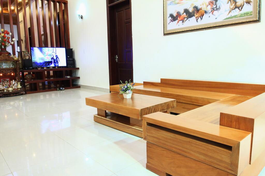 Sofa Gỗ Gõ Đỏ SFGD-001