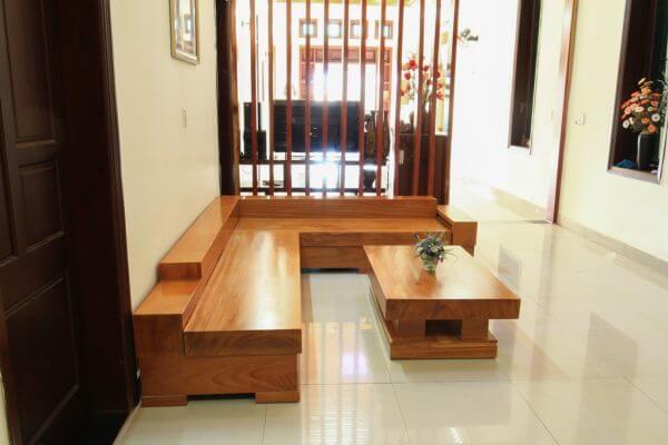 Sofa Gỗ Gõ Vàng SFGV - 001