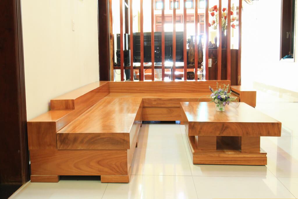 Sofa Gỗ Gõ Đỏ SFGD-002