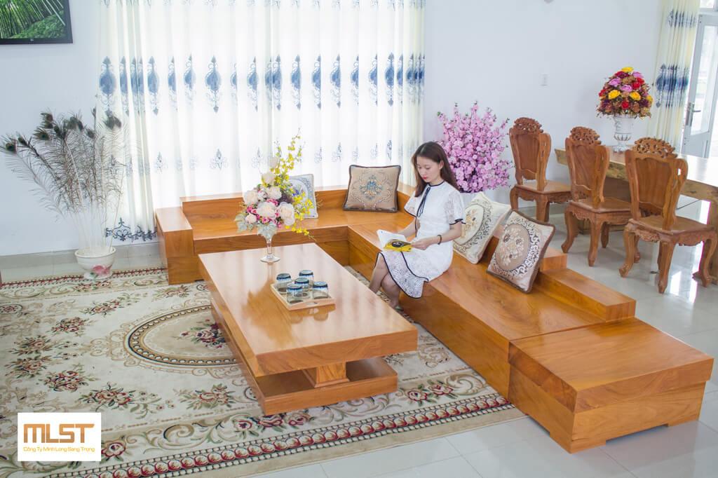 Sofa Gỗ Gõ Đỏ SFGD – 003