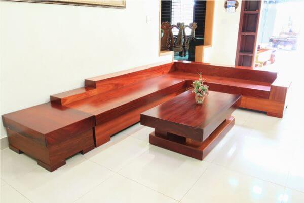 Sofa Gỗ Hương Đỏ SFHD - 001