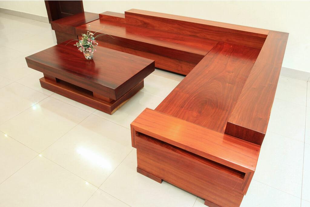 Sofa Gỗ Hương Đỏ SFHD-001