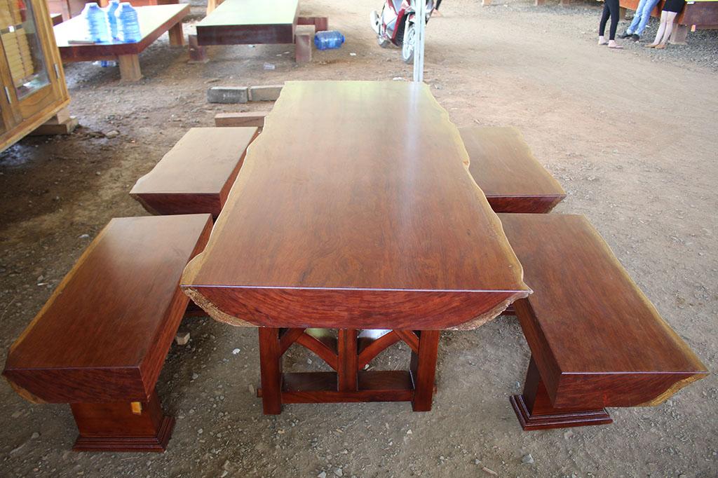 Bàn ba tấm gỗ cẩm đặc biệt-bgcc-001