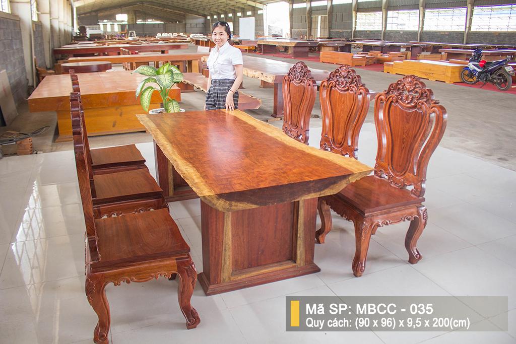 Bàn Ghế Gỗ Cẩm Nguyên Tấm MBCC – 035