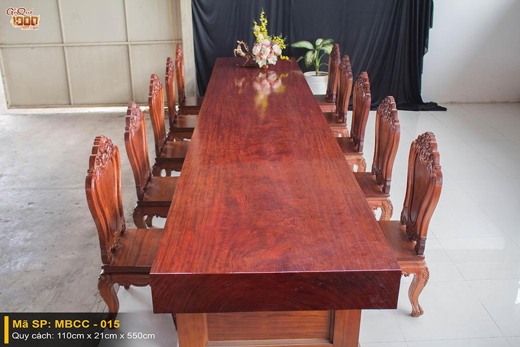 Bàn ghế gỗ cẩm nguyên tấm BGCC – 015