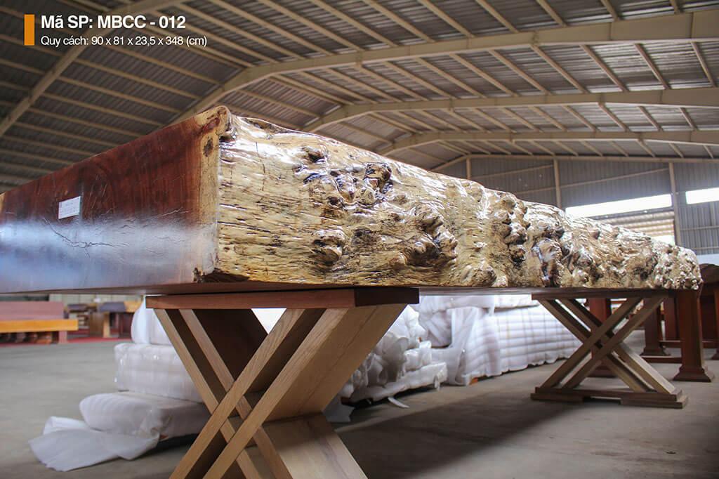 Mặt Bàn Nguyên Tấm Gỗ Cẩm MBCC – 012