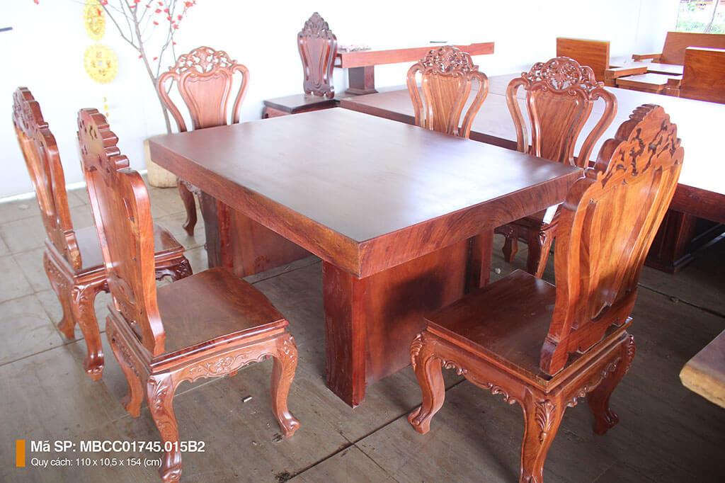 Bàn ghế gỗ cẩm nguyên tấm MBCC – 01745.015B2