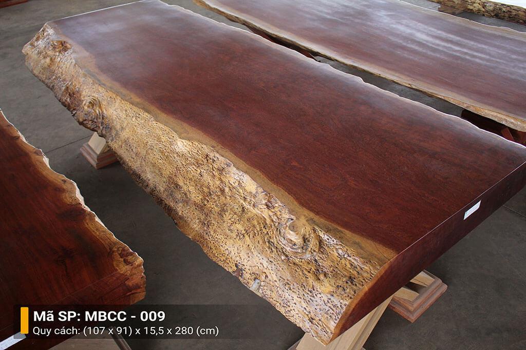 Mặt Bàn Nguyên Tấm Gỗ Cẩm MBCC – 009