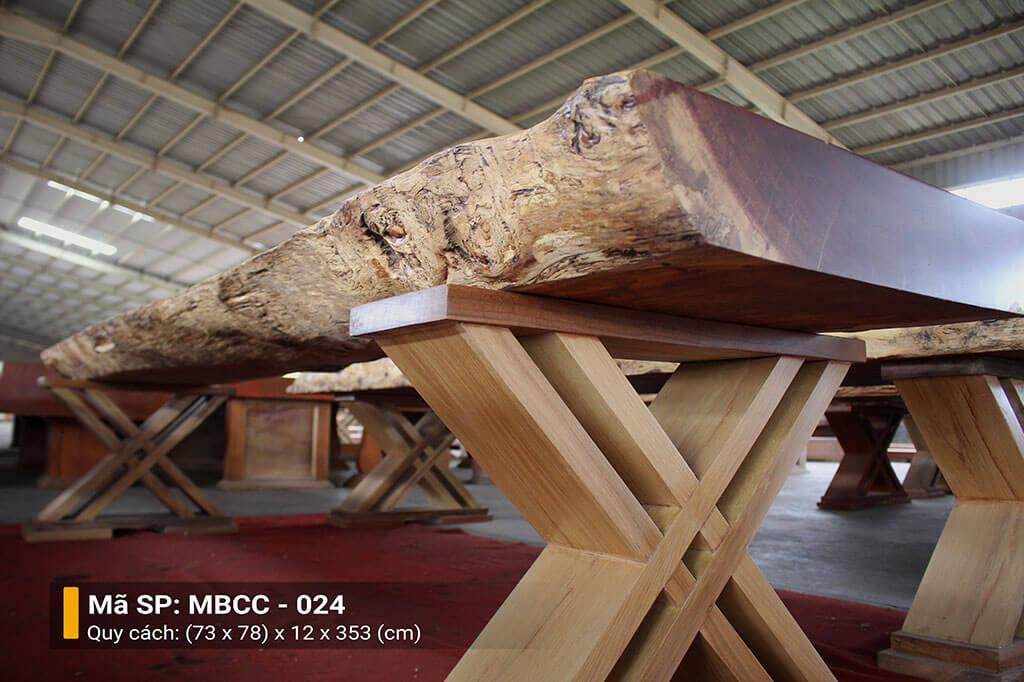 Mặt Bàn Nguyên Tấm Gỗ Cẩm MBCC – 024