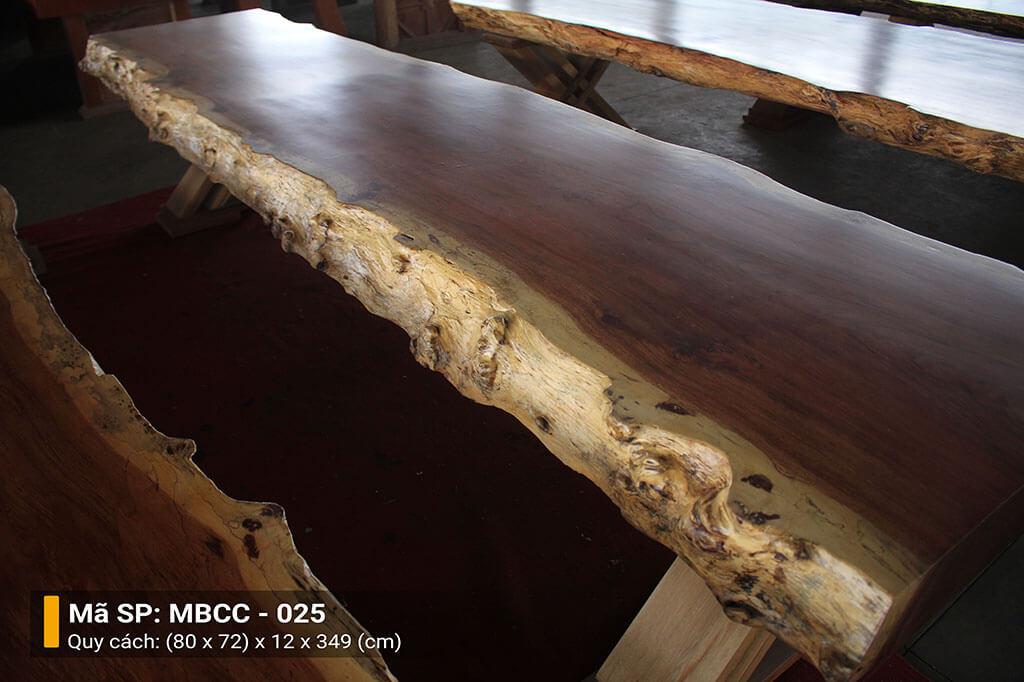 Mặt Bàn Nguyên Tấm Gỗ Cẩm MBCC – 025 – HP