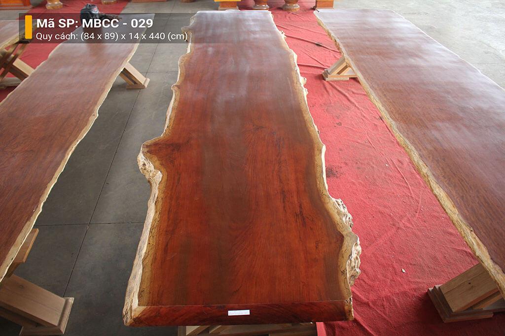 Mặt Bàn Nguyên Tấm Gỗ Cẩm MBCC – 029 – HP