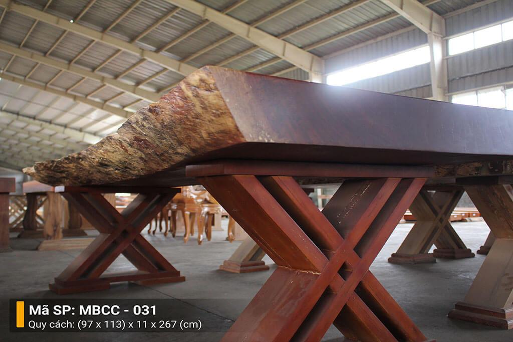 Mặt Bàn Nguyên Tấm Gỗ Cẩm MBCC – 031