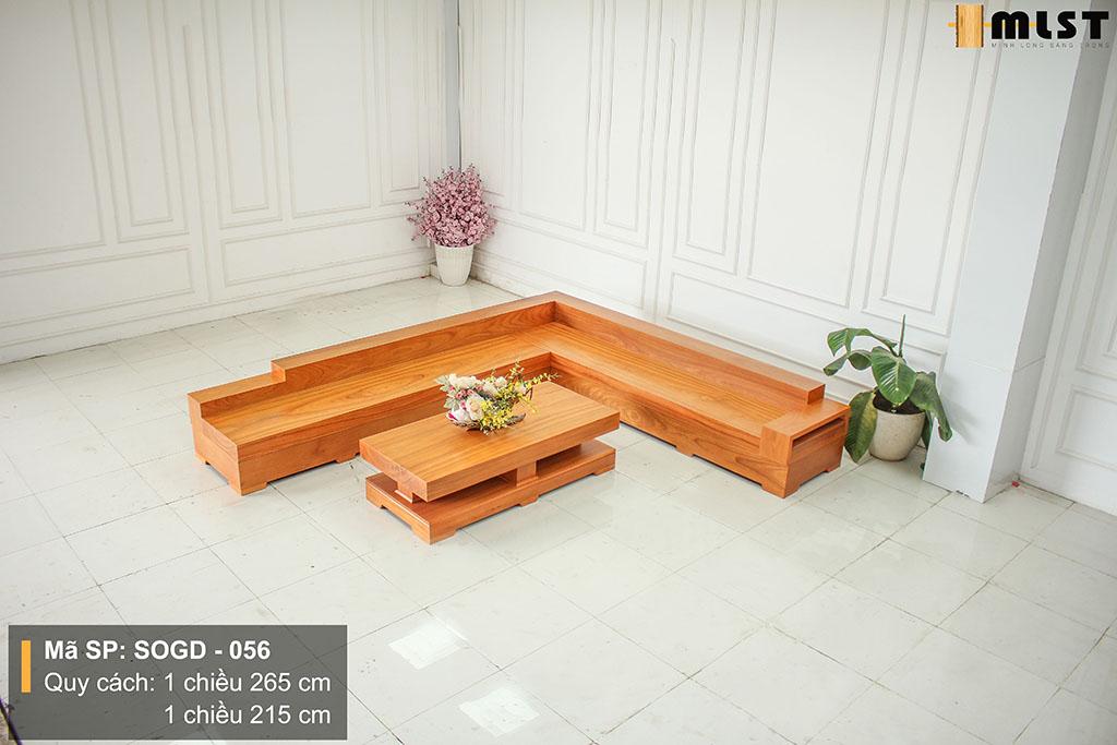 Sofa Gỗ Gõ Đỏ Nguyên Tấm SOGD – 056