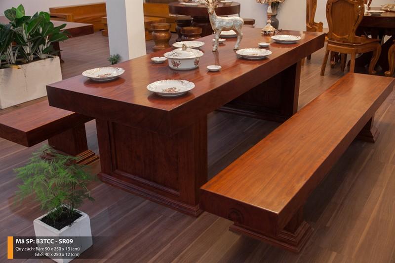 bàn 3 tấm gỗ Cẩm