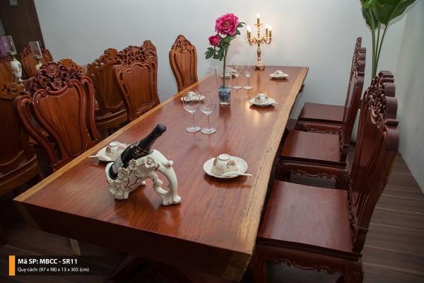 Tại sao bộ bàn gỗ cẩm tự nhiên nguyên tấm lại được ưa chuộng