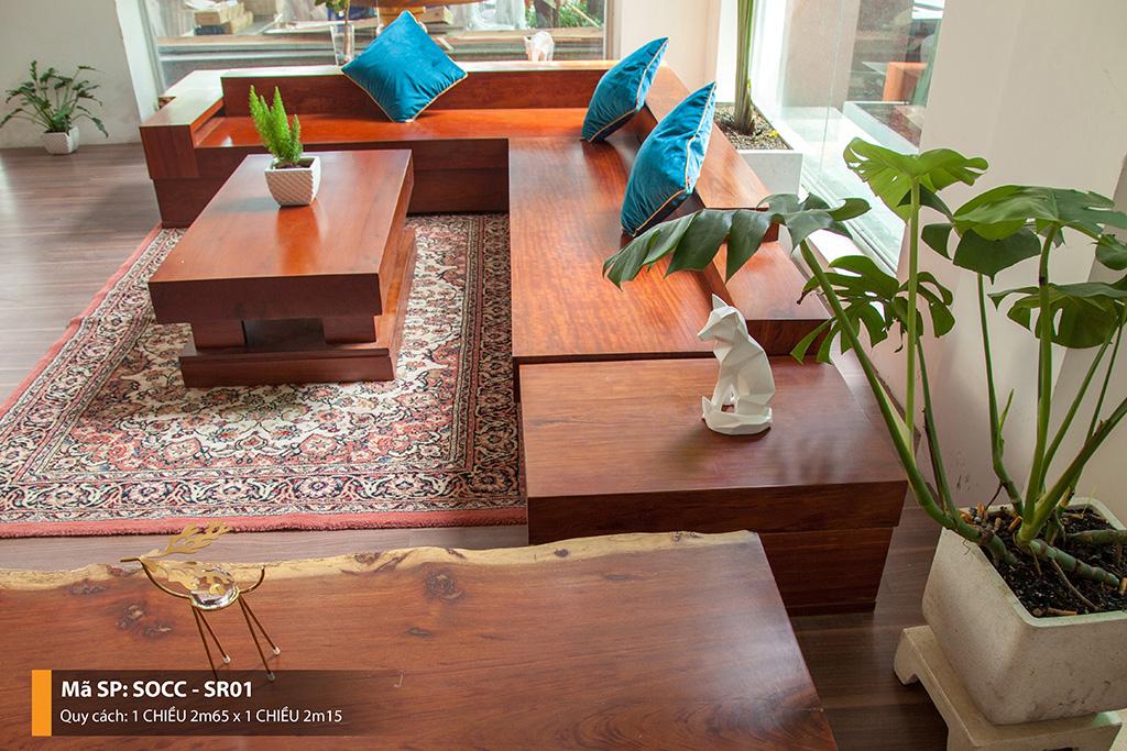 Sofa Gỗ Cẩm Nguyên Tấm SOCC – SR01