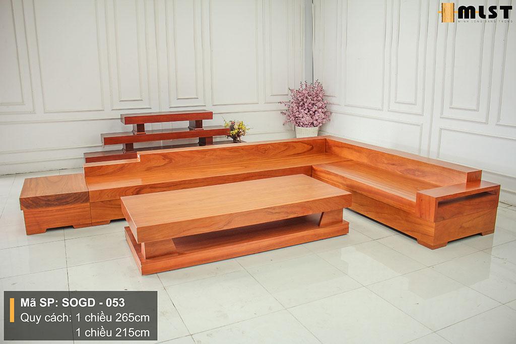 Sofa Gỗ Gõ Đỏ Nguyên Tấm SOGD – 053