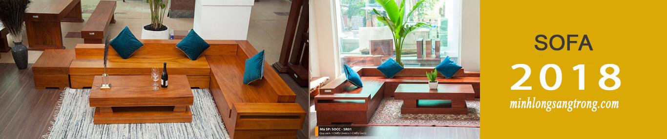 sofa gỗ nguyên tấm