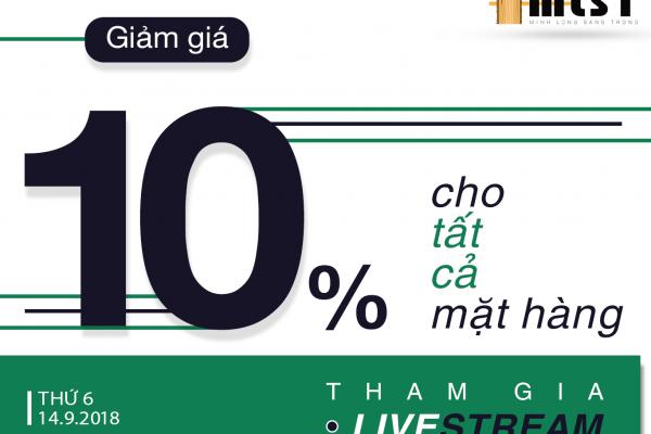 LIVESTREAM KHUYẾN MÃI SIÊU KHỦNG GIẢM GIÁ 10%
