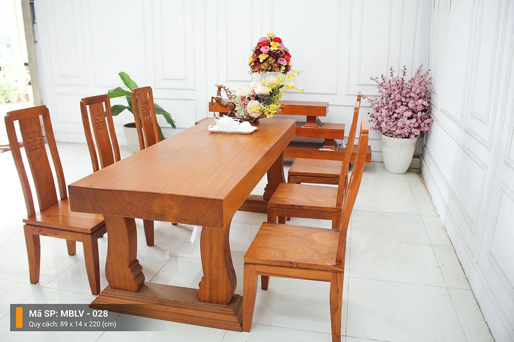 Mặt bàn Gỗ Lim Vàng Nguyên Tấm MBLV – 028