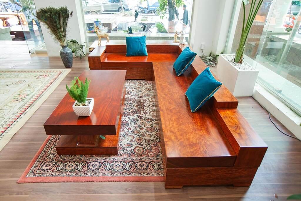 Sofa Gỗ Cẩm Nguyên Tấm Tuyệt đẹp