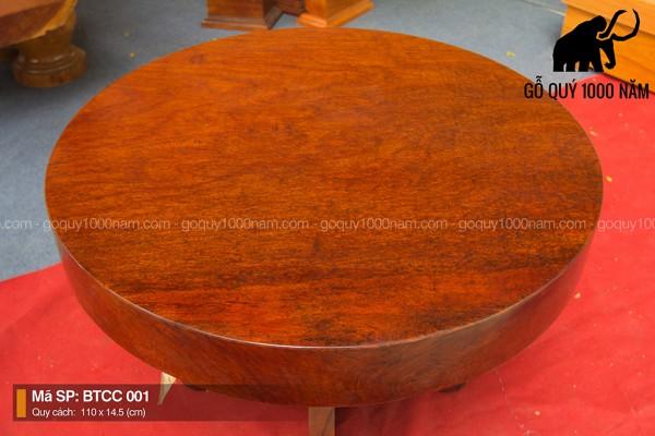 Bàn Tròn Gỗ Cẩm Nguyên Tấm BTCC – 001 – SG