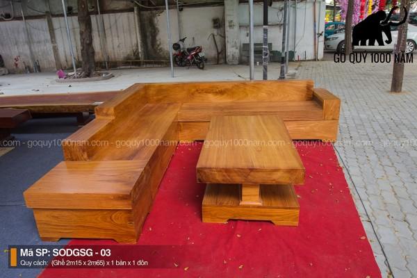 Sofa Gỗ Gõ Đỏ Nguyên Tấm SOGD – 03 – SG