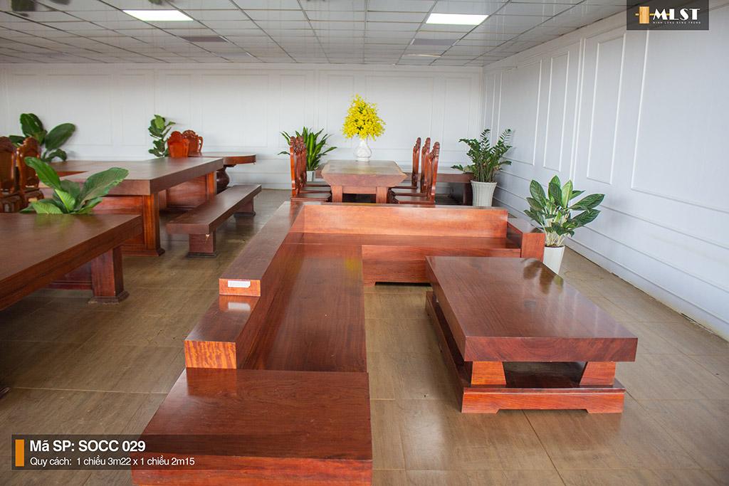 Sofa Gỗ Cẩm Nguyên Tấm SOCC – 029 HT