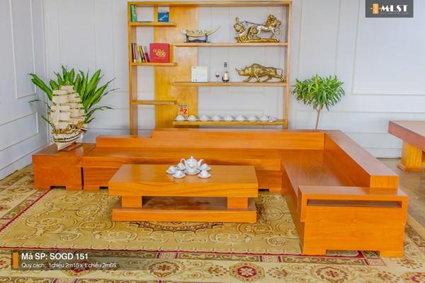 Sofa Gỗ Gõ Đỏ Nguyên Tấm SOGD – HT