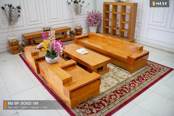 Sofa Gỗ Gõ Đỏ Nguyên Tấm SOGD – 189 – HT