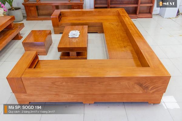 Sofa Gỗ Gõ Đỏ Nguyên Tấm SOGD – 094 – HT