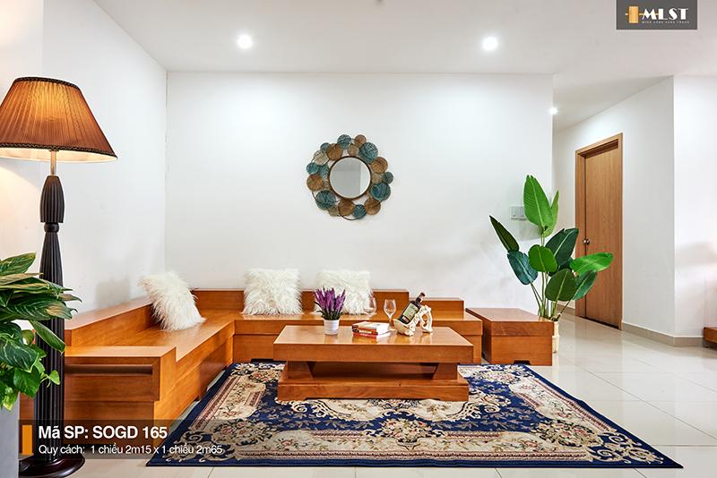 Sofa Gỗ Gõ Đỏ Nguyên Tấm SOGD – 165 – SG