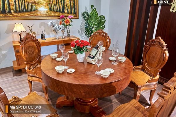 Bộ bàn tròn gỗ Cẩm quý hiếm – MBTCC.001 || Minh Long Sang Trọng