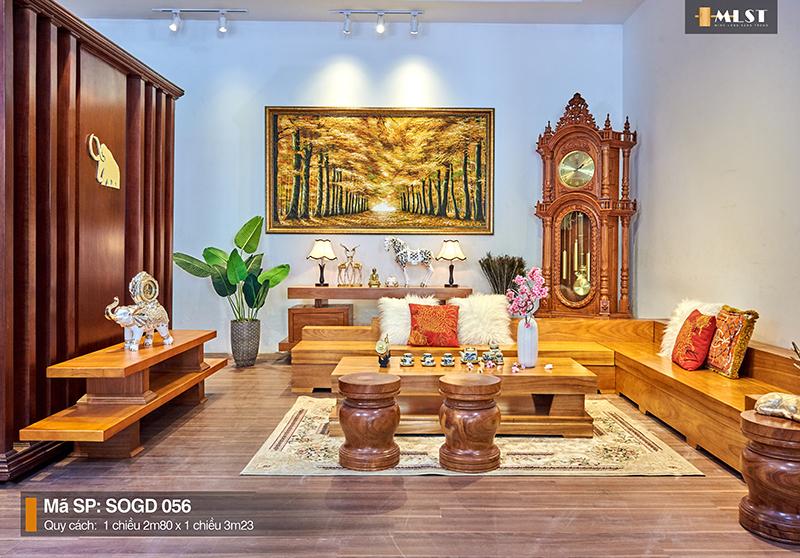 Sofa Gỗ Gõ Đỏ Nguyên Tấm SOGD – 056 – SG