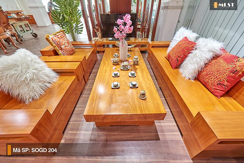 Sofa Gỗ Gõ Đỏ Nguyên Tấm SOGD – 204 – SG