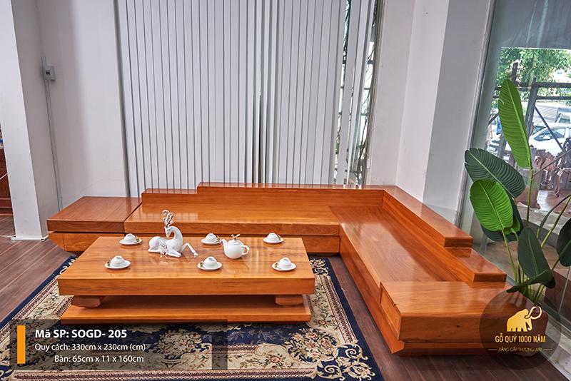 Sofa Gỗ Gõ Đỏ Nguyên Tấm SOGD – 205 – SG
