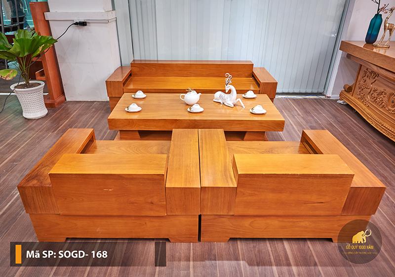 Sofa Gỗ Gõ Đỏ Nguyên Tấm SOGD – 168 – SG