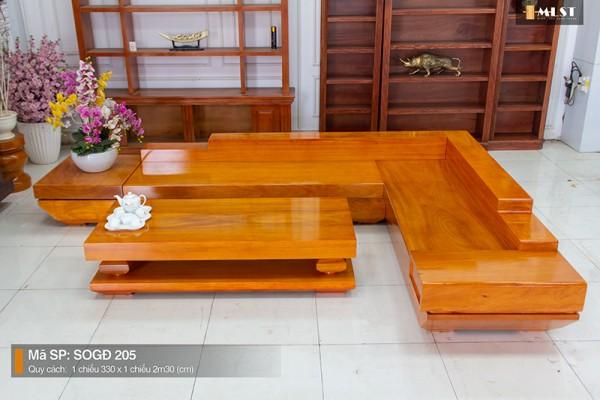 Sofa Gỗ Gõ Đỏ Nguyên Tấm SOGD – 205 – HP
