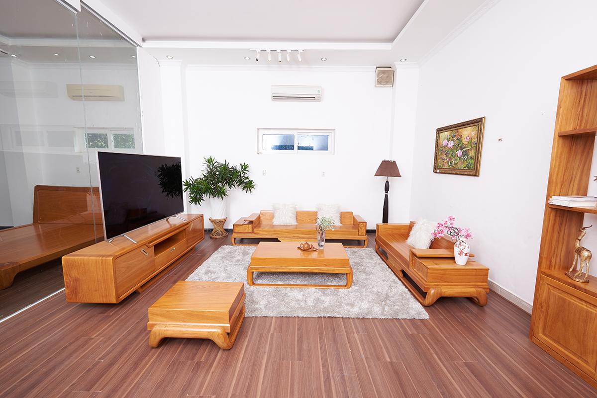 Sofa Gỗ Gõ Đỏ Lưng Cong Nguyên Tấm SOGD – 2020