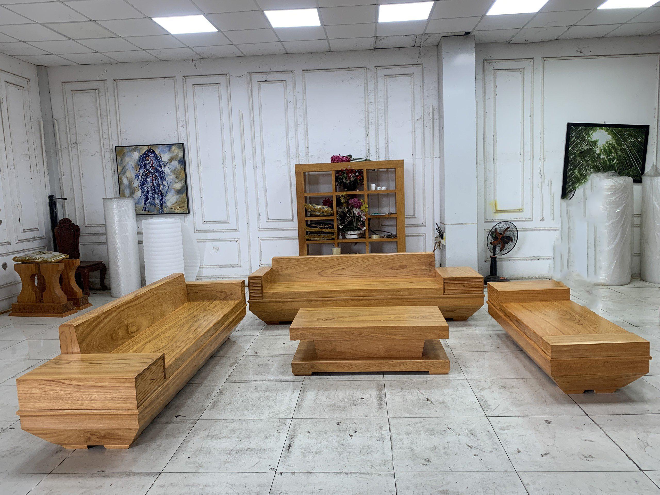 Sofa Chữ H Gõ Đỏ Nguyên Tấm SOGD – 2021