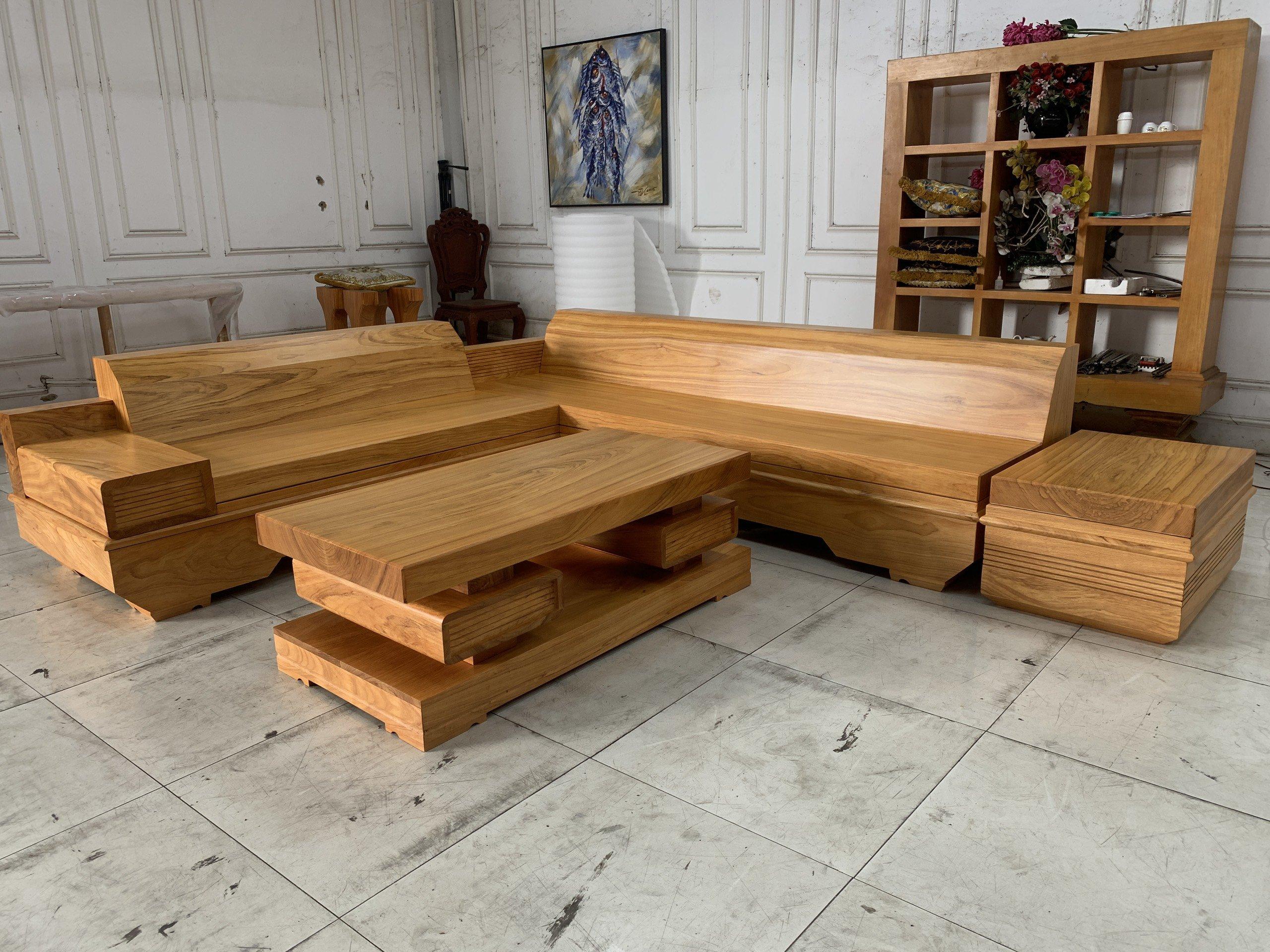 Sofa Gỗ Gõ Đỏ Nguyên Tấm SOGD – 2021